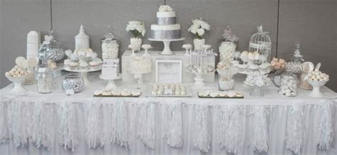 Kara's Party Ideas White   Silver Wedding   Kara's Party Ideas