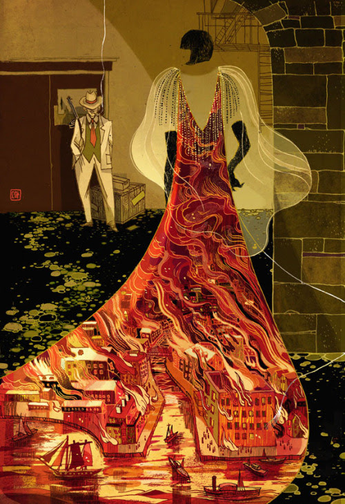 "Jacks and Queens at the Green Mill Victo Ngai I am so excited I can finally blog about this! Cover for Tor.com web story "" Jacks and Queens at the Green Mill"" by MARIE RUTKOSKI. The story sets in 20s Chicago, there is Jazz, mafia, flappers and the mystery of Chicago fire. You can read it here. Thank you AD Irene Gallo for the fun project!"