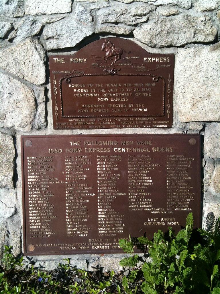 Pony Express - Carson City