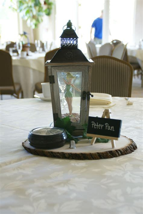 PETER PAN CENTERPIECE: Bought the lantern, and wooden base