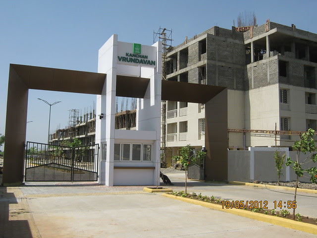 Entrance Gate & A6 & A5 Buildings -  Visit Kanchan Vrundavan, 1 BHK & 2 BHK Flats at Koregaon Mul, near Uruli Kanchan Pune 412202