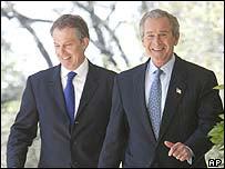 Tony Blair og George W. Bush