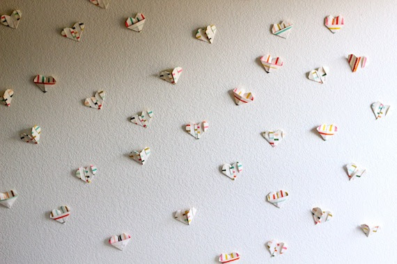 Cantik Hiasan Dinding Kamar Dari Kertas Origami