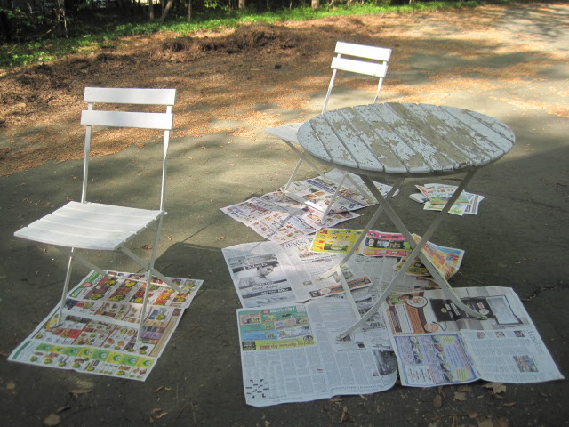 Repainting outdoor wood furniture   Yikes Money
