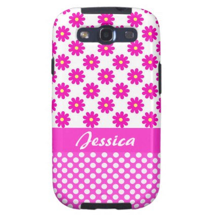 Pink Girly Name - Samsung Galaxy S3 Case