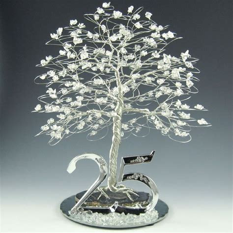 25th Anniversary Tree Cake Topper or Centerpiece. $165.00