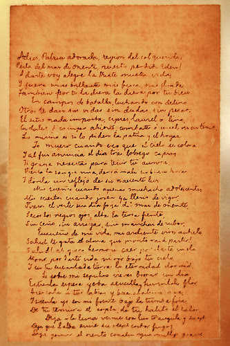 what is the reflection of the last poem of rizal (very last poem of dr rizal in spanish language, year 1896)  and may it be gilded by a reflection of the heaven's new-born light my dreams, even as a child.