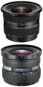 Sony 11-18mm y Olympus 11-22mm