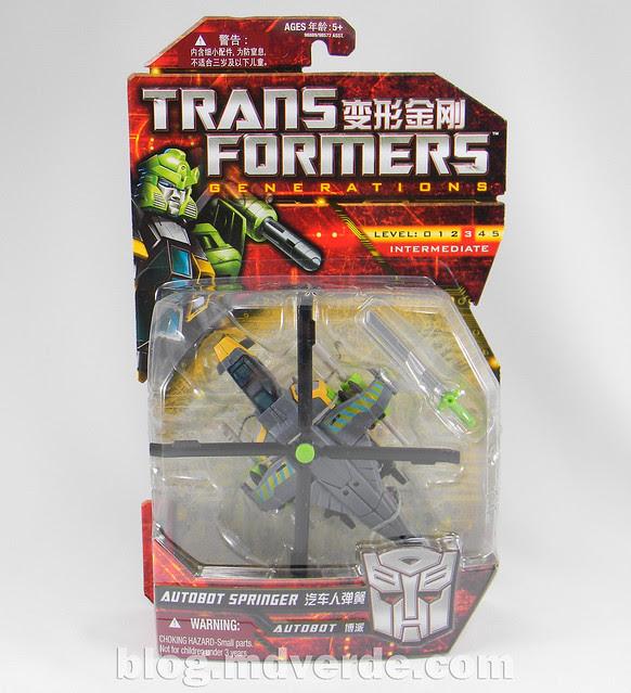 Transformers Springer Deluxe - Generations GDO - caja