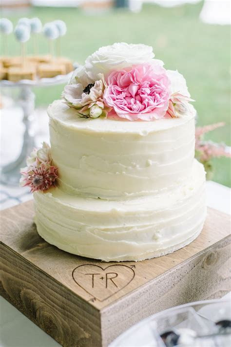 Two Tier Buttercream Wedding Cake   Falling Down the