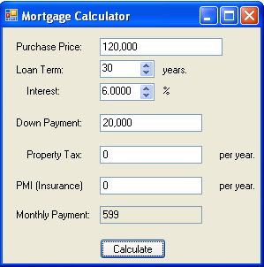 Use this calculator to estimate your monthly mortgage payment.
