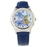 cute teddy bear on picnick cloth still life art wrist watches