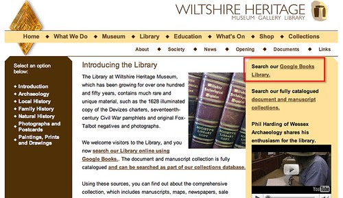Wiltshire Heritage Library does Google books.... http://www.wiltshireheritage.org.uk/library/