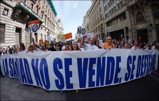 Una de las 'mareas blancas' que ha tenido lugar este año en Madrid.