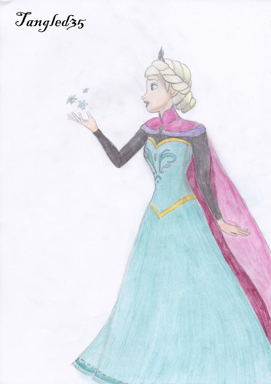 me tout le monde poste ses dessins alors voici mes dessins la reine des neiges