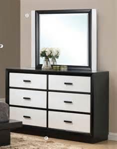 debora blackwhite contemporary  drawer dresser