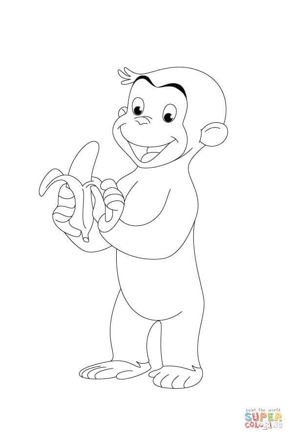 Stampabile Disegni Da Colorare Di George La Scimmietta Disegni Da