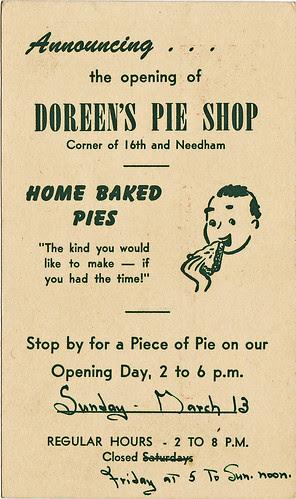 doreens pie shop