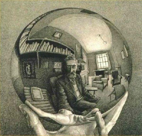Optical Illusion with globe