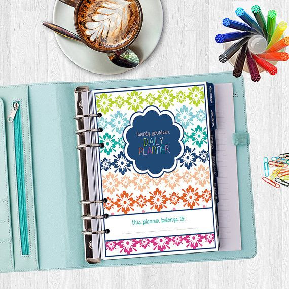 2014 Daily Planner Cover Page - HALF SIZE - All 6 Designs for One ...