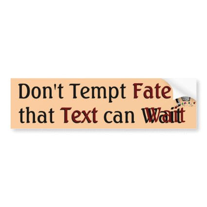 Don't Tempt Fate Bumper Sticker bumpersticker