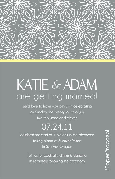 modern bloom wedding invitation  happily