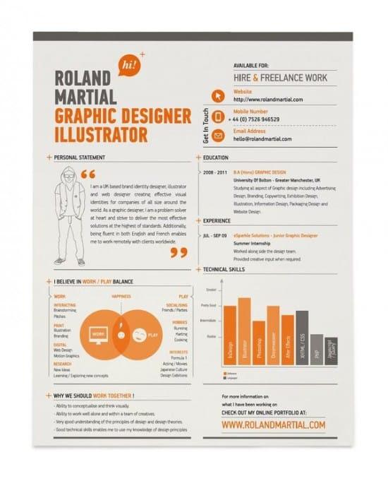 30+ Excellent Resume Designs for Inspiration -Design Bump