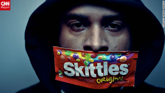 New York photographer Darrel Dawkins wants to send a message about the Trayvon Martin story, as do many iReporters who shared self-portraits in support of the movement.