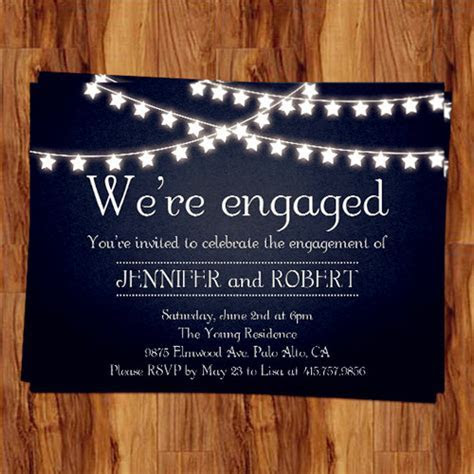 rustic outdoor chalkboard cheap engagement party