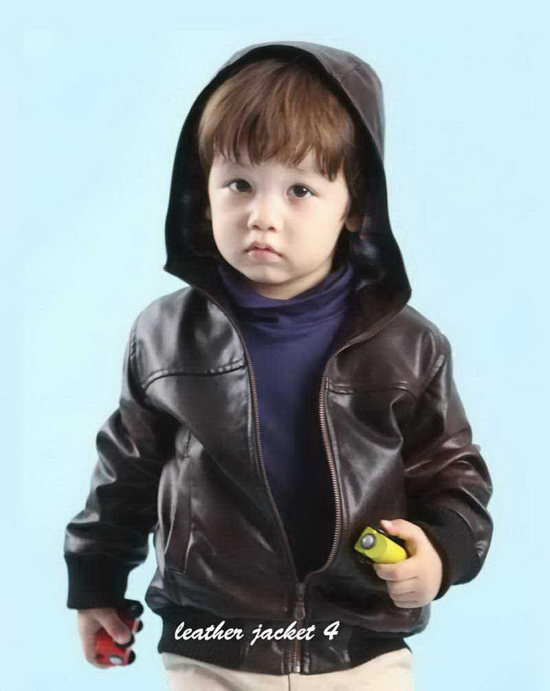 kids leather hoodie