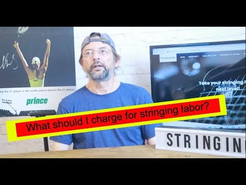 What should I charge for Racket stringing labor?