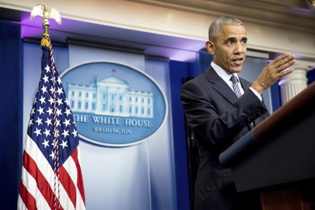 Pour sa première conférence de presse depuis l'élection... (PHOTO AP)