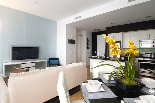 Beacon one bedroom residence - contemporary - dining room - new ...