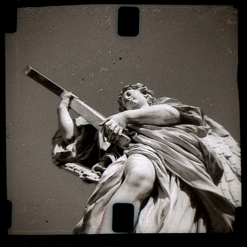 statue on the Ponte San Angelo by pho-Tony