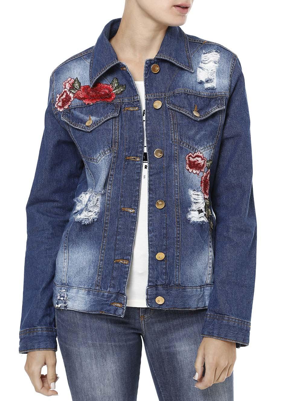 Resultado de imagem para jaqueta jeans lindas