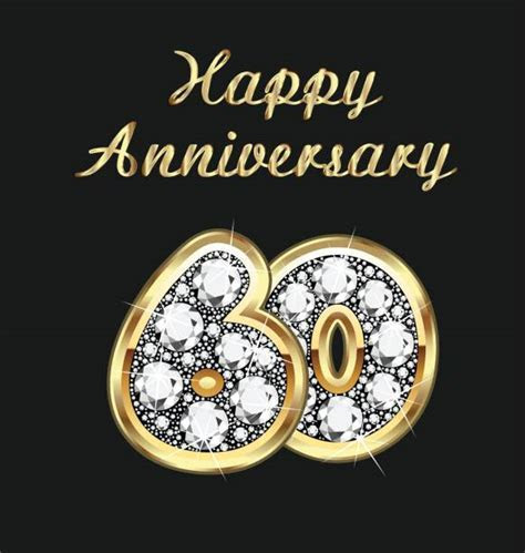 Royalty Free 60th Wedding Anniversary Clip Art, Vector