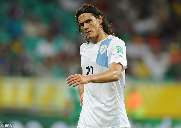 Most wanted: Man United and PSG are also keeping tabs on Cavani