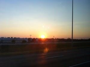 Sunset on the way to Michigan