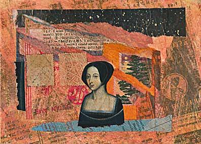 Woman and Tree postcard