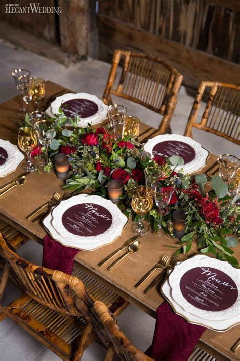 Rustic Wedding Table Setting & Rustic Wedding Decor