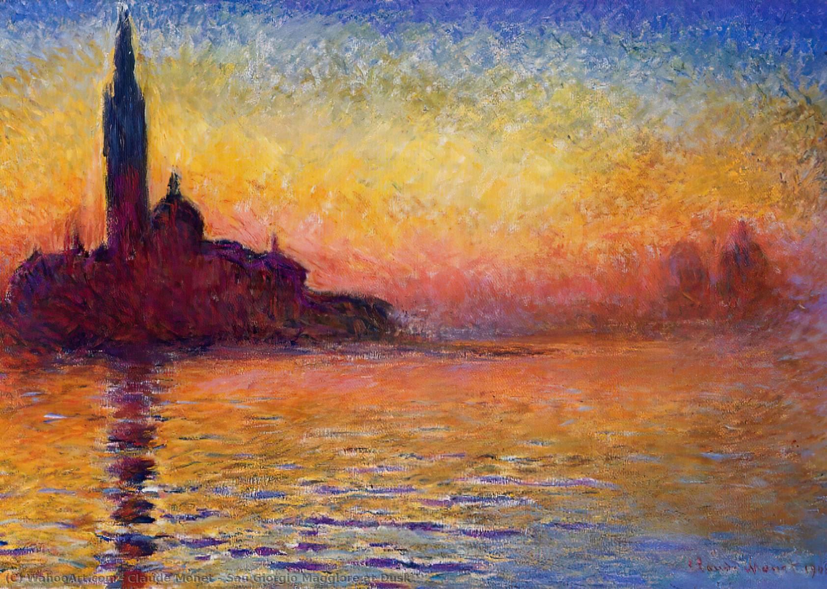 Resultado de imagen de Claude Monet Crepúculo en Venecia