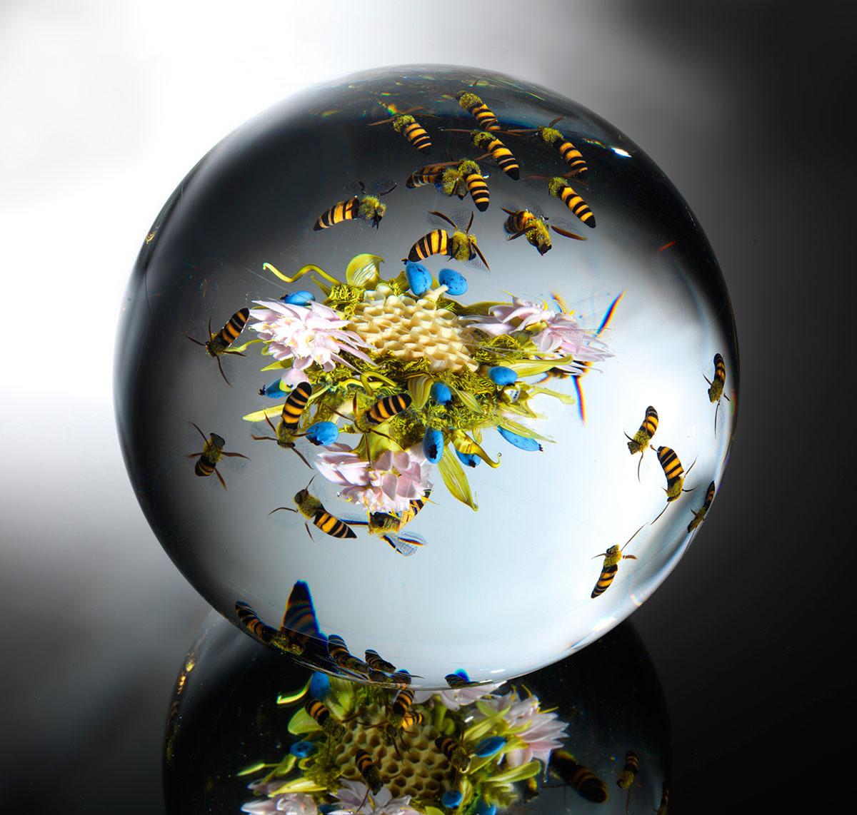 Beauty Beyond Nature: Stunning Artistic Glass Paperweights by Paul J. Stankard sculpture glass