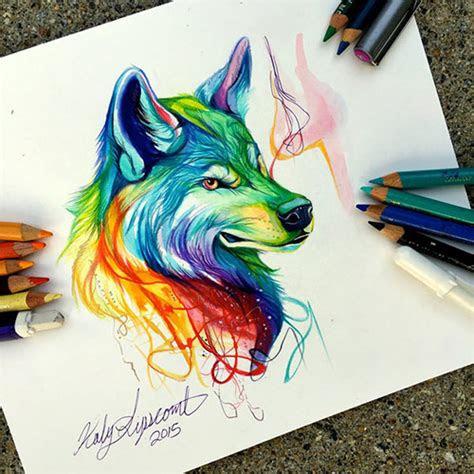 inspiring color pencil drawings  animals  katy