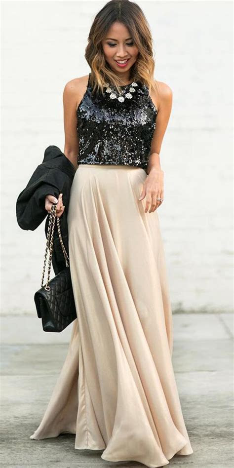 winter guest wedding dresses sequins top long maxi skirt
