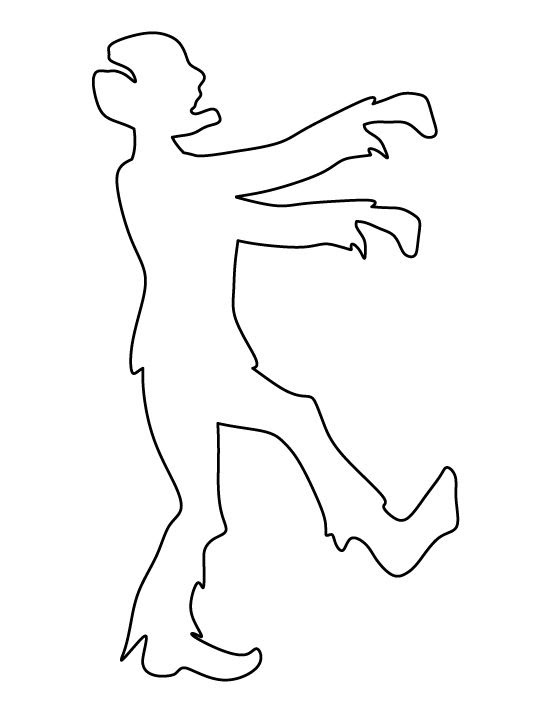 Zombie pattern. Use the printable outline for crafts, creating ...