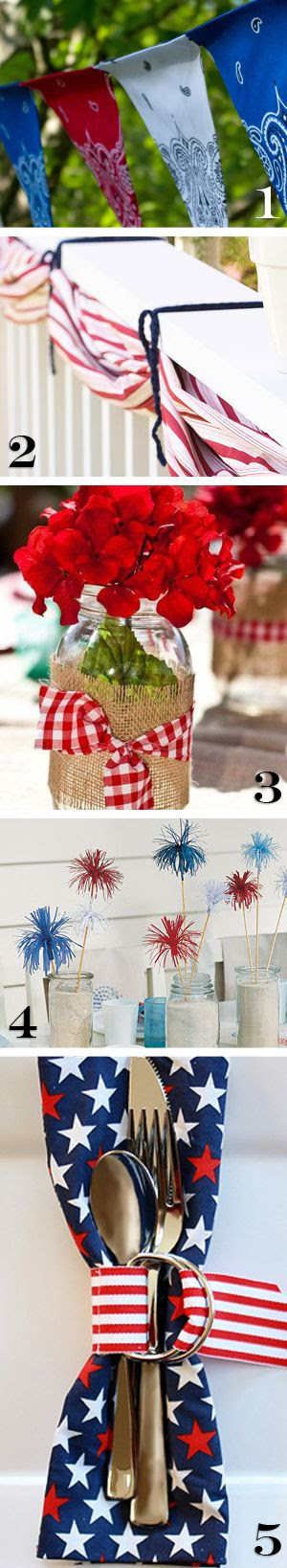Patriotic Decorations for BBQ