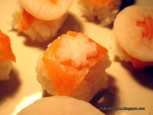 Sushi con daikon