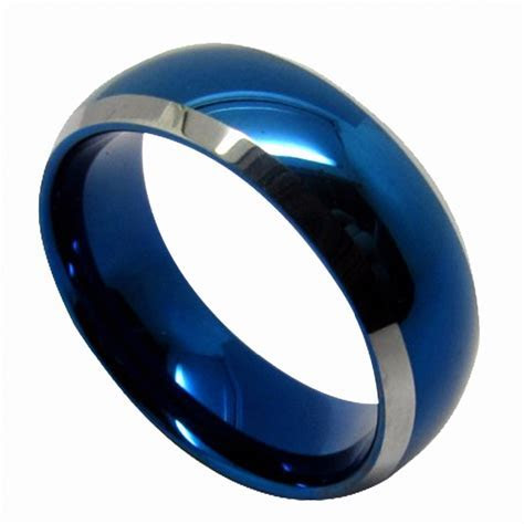 Aliexpress.com : Buy Queenwish Blue Tungsten Mens Wedding