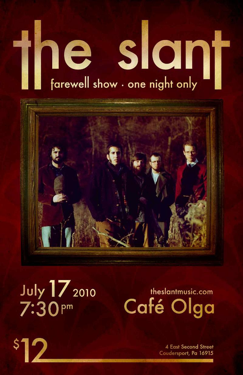The Slant Farewell  Concert Poster