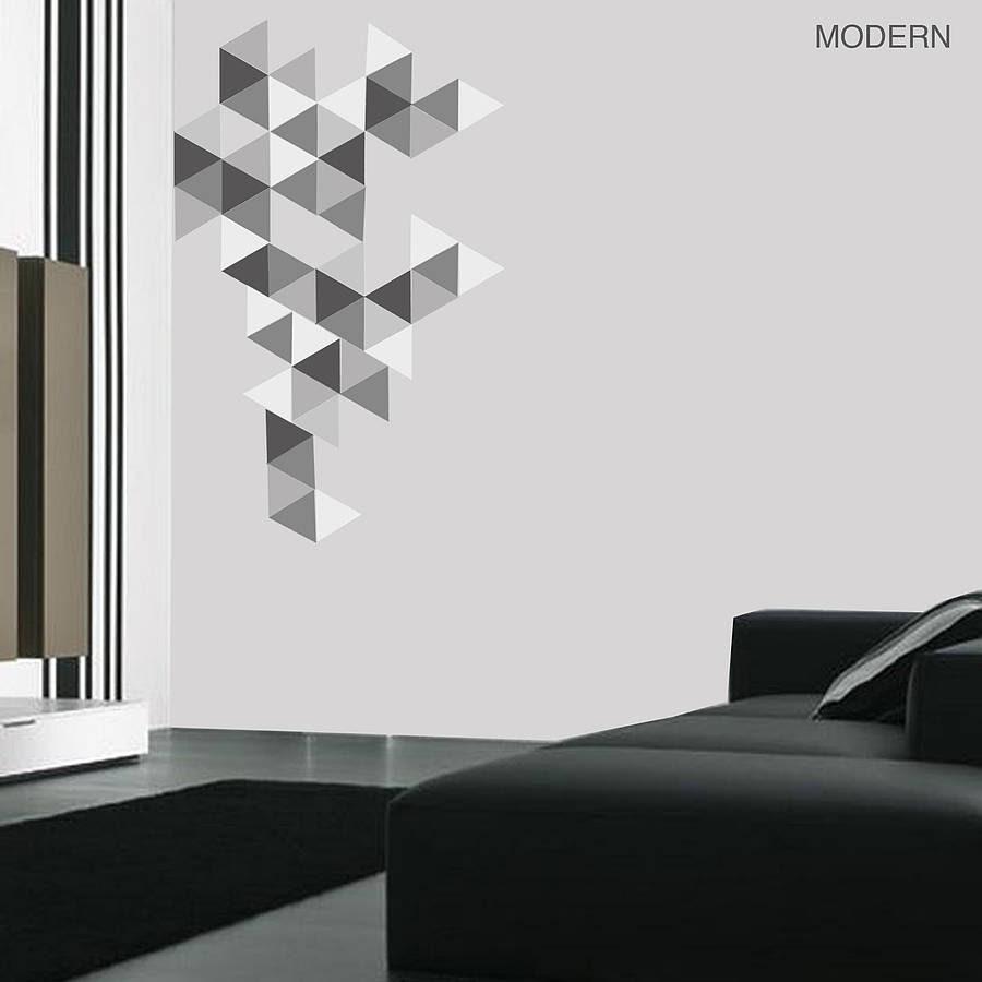 geometric triangles vinyl wall sticker set by oakdene designs  notonthehighstreet.com